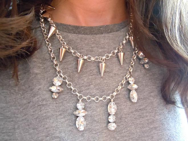 necklace-diy-handmade-diyearte-rhinestones-sparkles-spikes-collar-brillantes-tachuelas