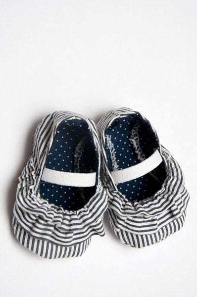 patrón del zapato de bebé y tutorial