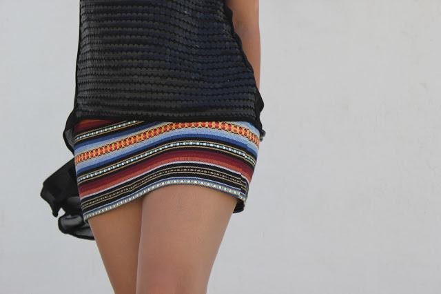 Costura fácil: mini falda étnica DIY (patrón gratis)