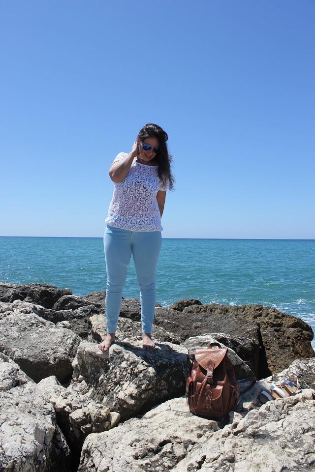 DIY Camiseta de Guipur para el verano diy ropa playa patrón gratis