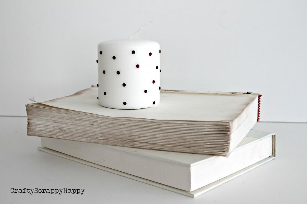 DIY Gem Candle via Crafty Scrappy Happy