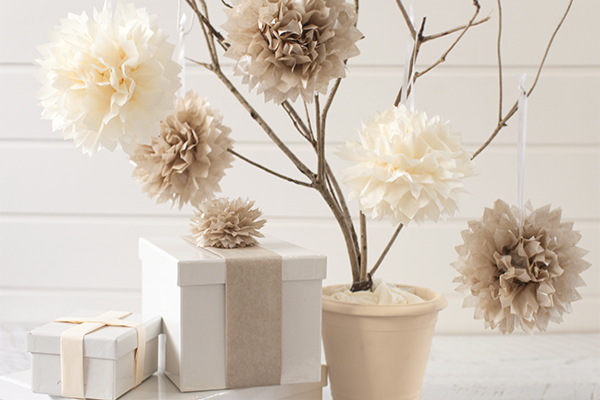 tissue paper pom poms - a easy craft and decorating idea for any special occasion