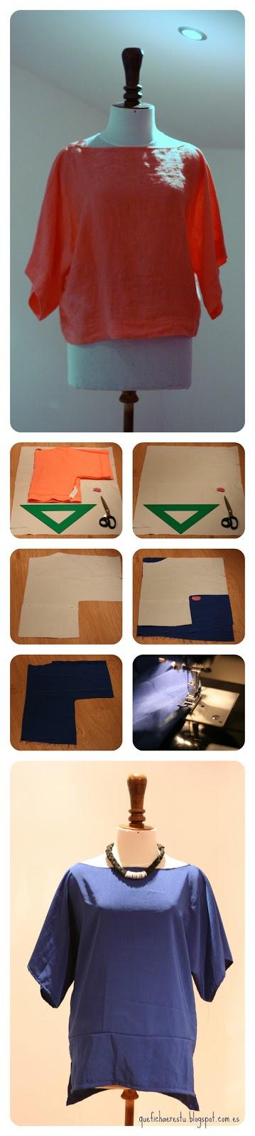 DIY blusa kimono / kimono shirt