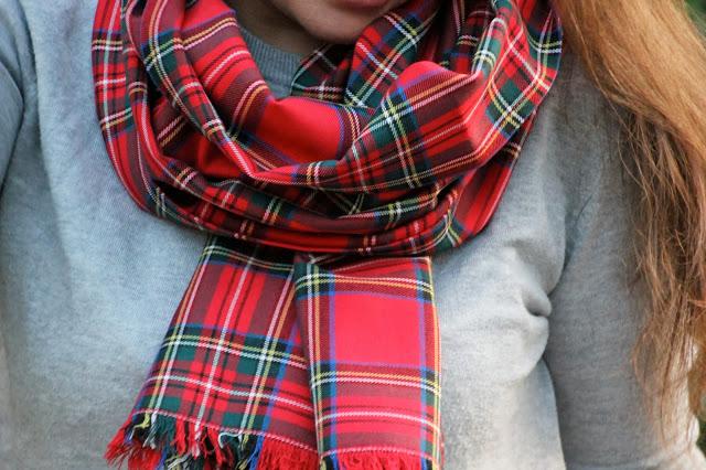 Tendencia cuadros escoceses DIY Cómo hacer una pashmina