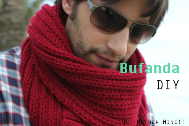 Cómo hacer tejer una bufanda de hombre con dos agujas regalo de navidad