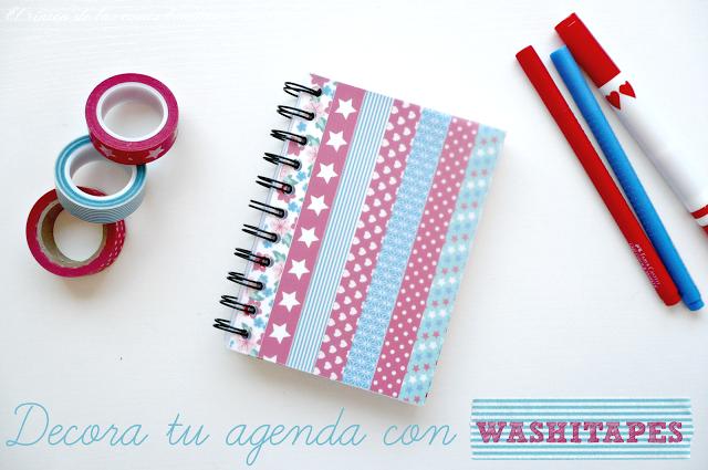 agenda washitape decorada libreta