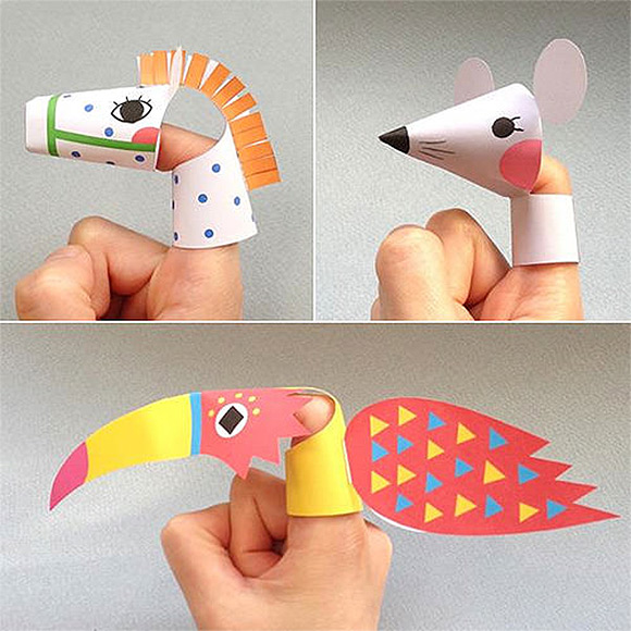 Printable Animal Finger Puppets