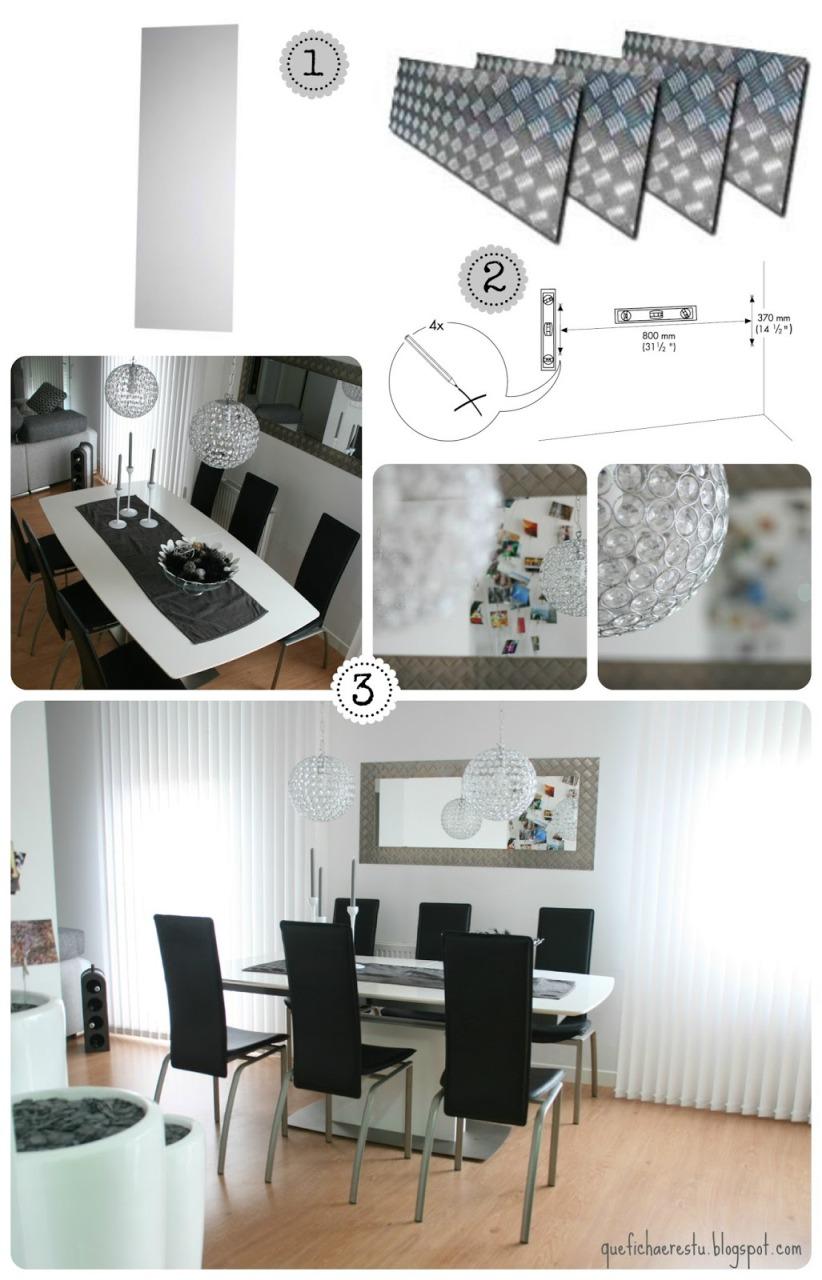 DIY: espejo con un toque industrial / mirror with industrial look