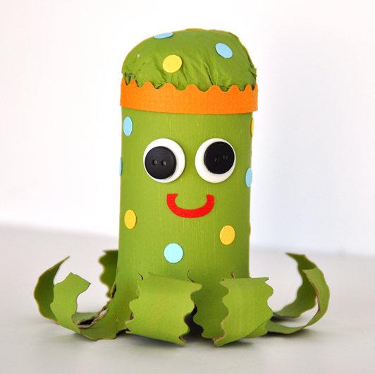 Kids Crafting – Octopus Puppet