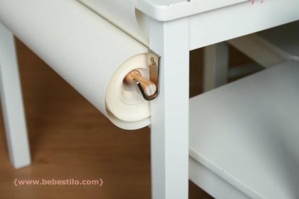 DIY mesita con rollo papel