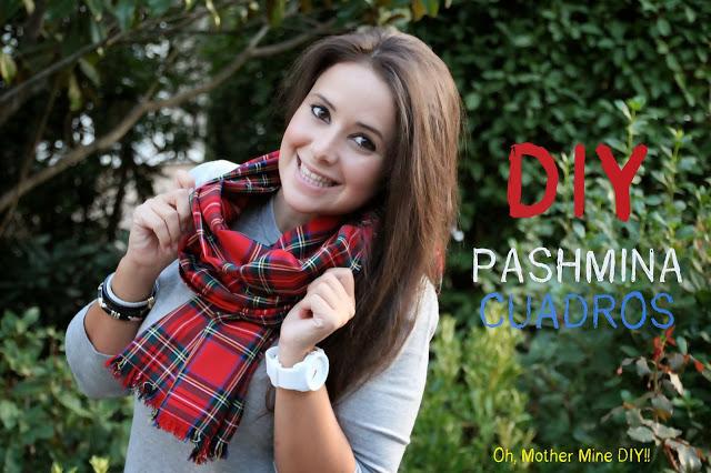 DIY Cómo hacer una pashmina de cuadros escoceses