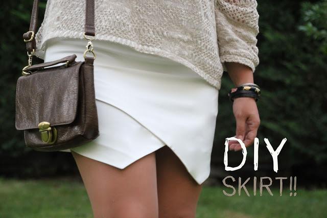 DIY Costura de falda de picos.