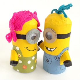 How to Make Toilet Roll Minions