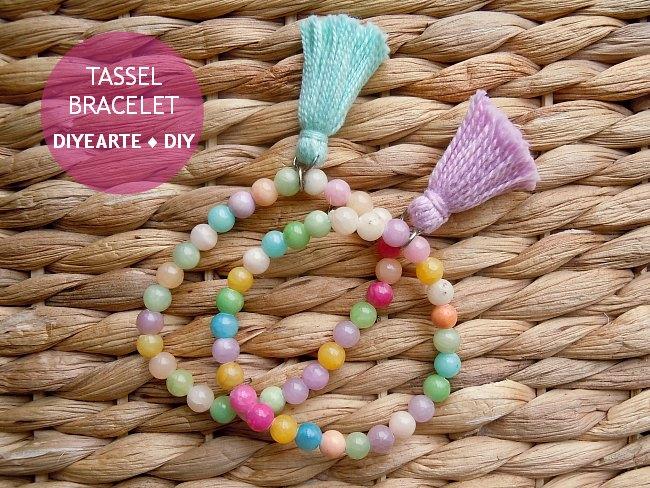 tassel-bracelet-jewelry-diy-diyearte-handmade-beads-pulsera-borlas-bolas