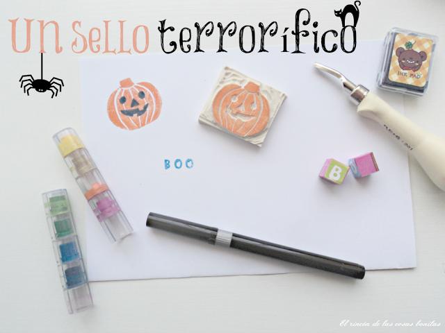 sello carvado calabaza halloween