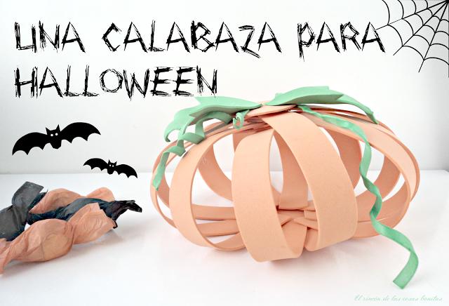 calabaza goma eva halloween