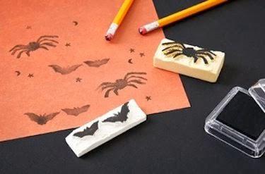 Diy Halloween carvado de sellos