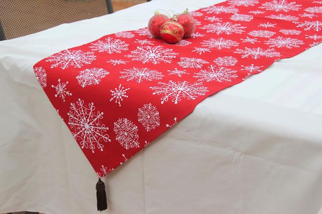 DIY Decoración Navidad. Como hacer mantel o camino de mesa. DIY Navidad