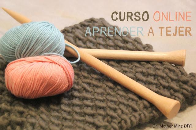 Curso online gratis aprender a tejer. Punto del derecho y Punto del revés.