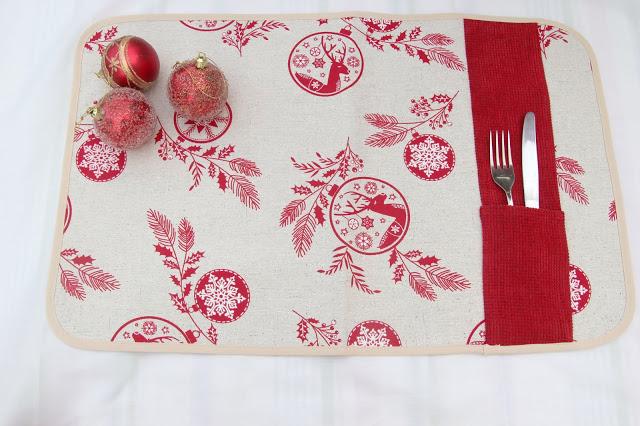 #NavidadFácil DIY: Cómo hacer un mantel individual decoración navidad