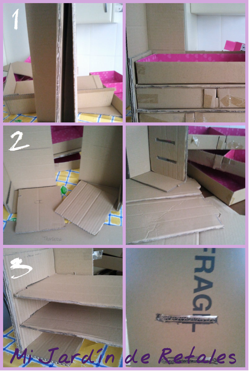 Diy Cajones De Cart N Handbox Craft Lovers Comunidad Diy  # Muebles Diy De Carton