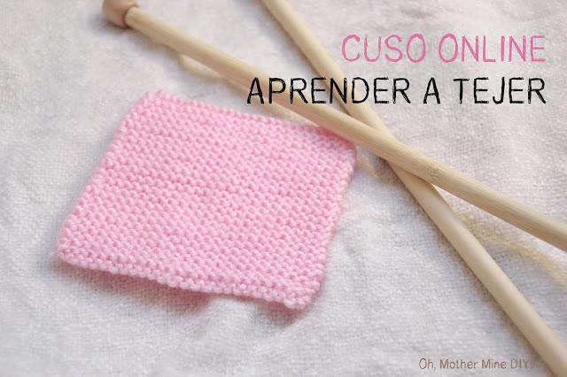 Aprender a tejer dos agujas. Blog de costura y diy.