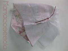 Para meter la goma en las perneras, utiliza el hueco sin coser de 2cm que dejaste en los extremos laterales