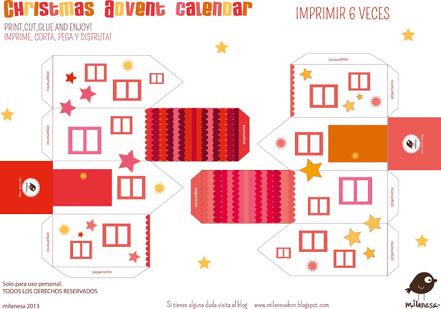 casitas 2- Calendario de Adviento 2013 Milanesa