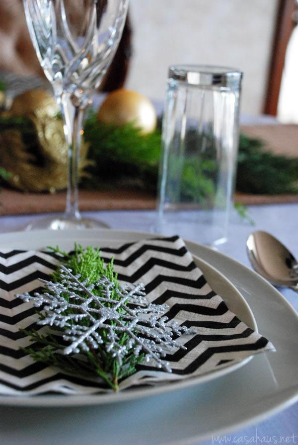 Lugar en mesa de Navidad moderna | Casa Haus