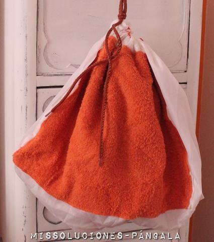 diy bolsa para evitar hongos en gimnasios y llevar lo mojado