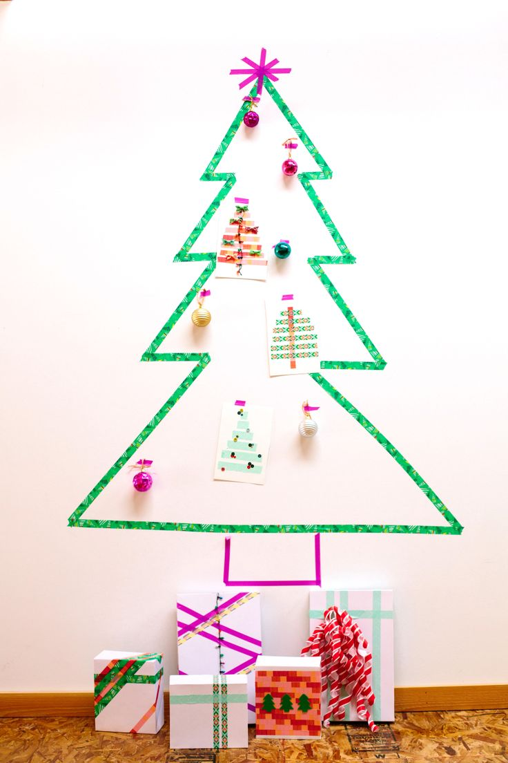 washi tappe christmas tree