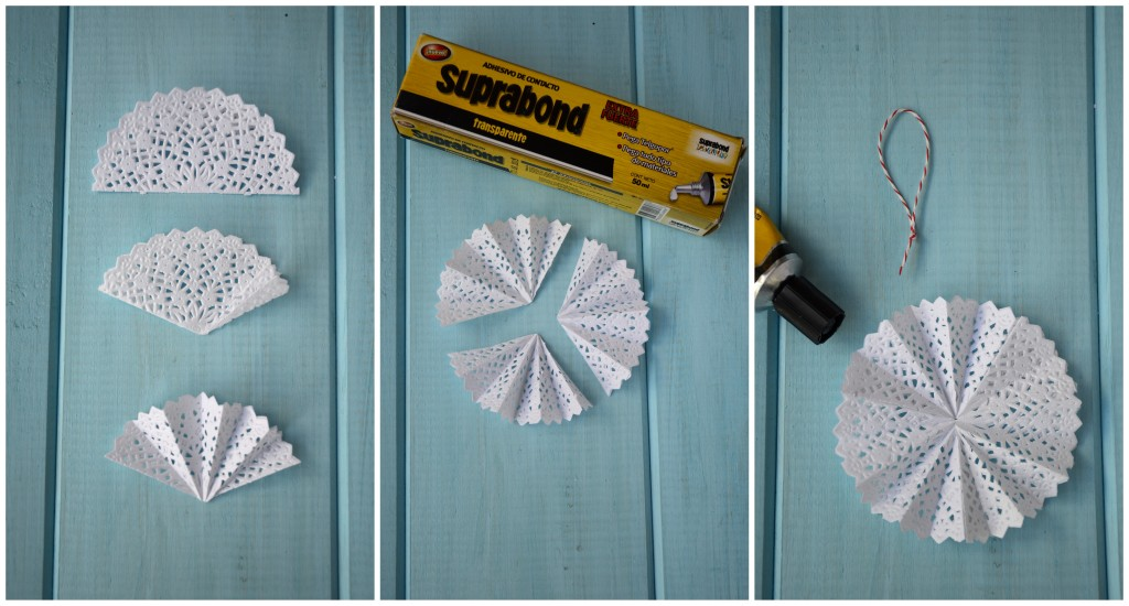 diy  Decoramos el arbolito con blondas de papel