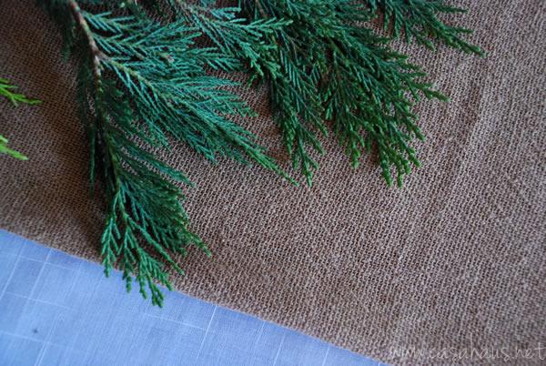 Yute y cedro para la mesa de Navidad | Casa Haus