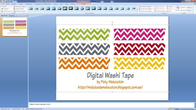 Tutorial Washi Tape Digital 4