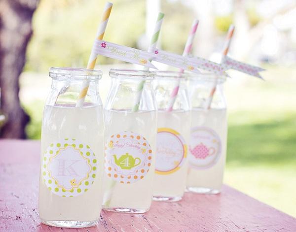 tea-party-juice bottle-labels