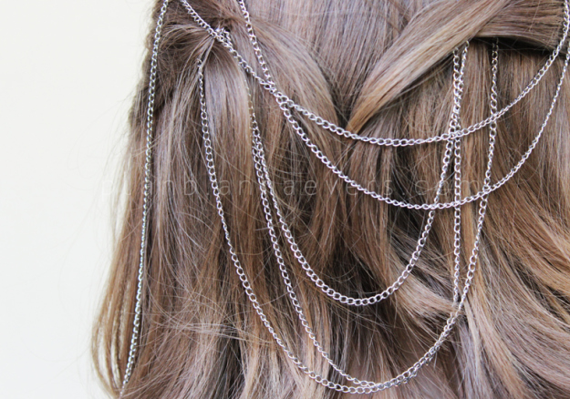 Plan B anna evers DIY Chain Hair pins zoom