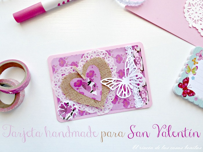 tarjeta handmade san valentin