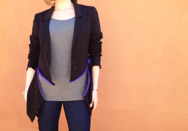 DIY zipper blazer Plan B anna evers