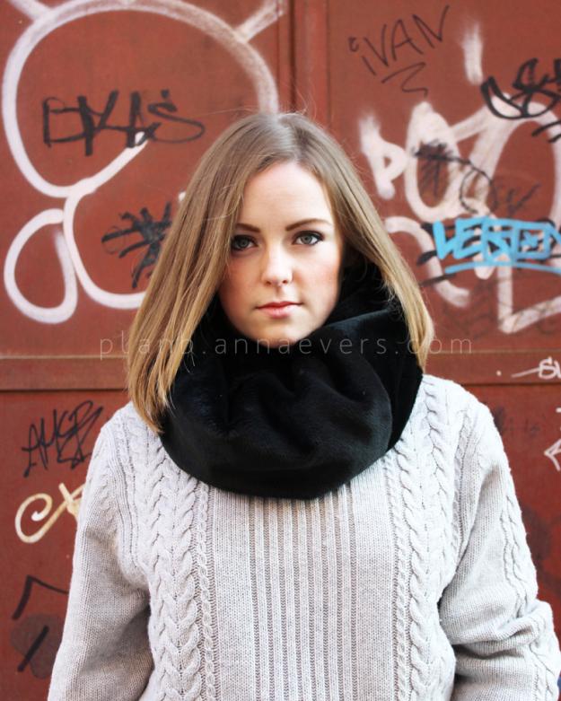 Plan B anna evers DIY Faux Fur tube scarf