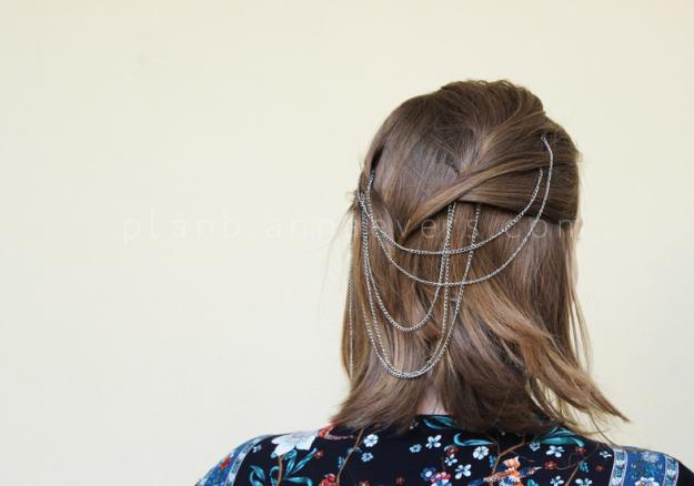 Plan B anna evers DIY Chain Hair pins