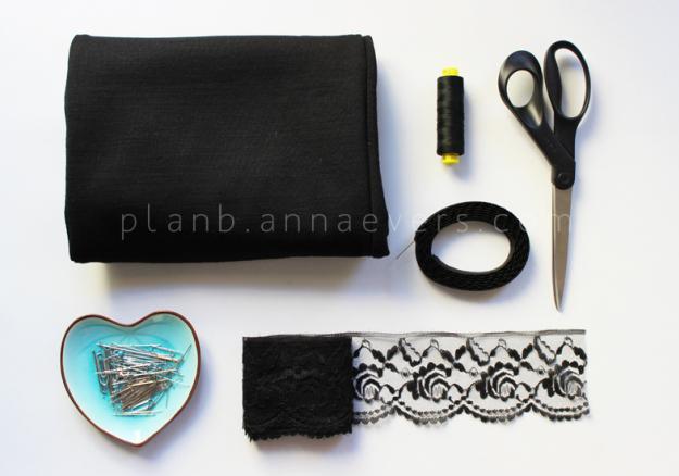 Plan B anna evers DIY Lingerie skirt materials
