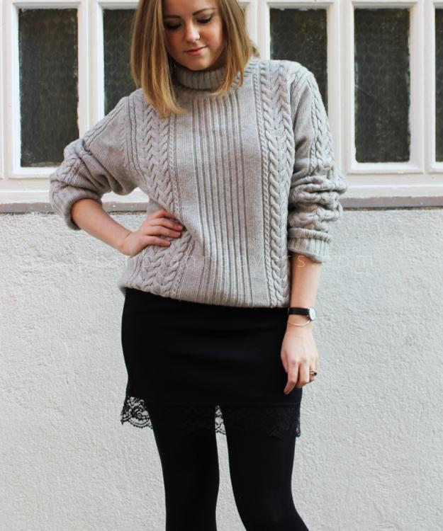 Plan B anna evers DIY Lingerie skirt black