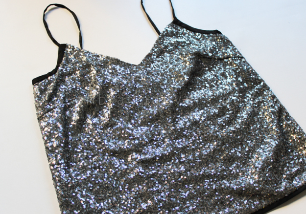 Plan B anna evers DIY Party sequin top