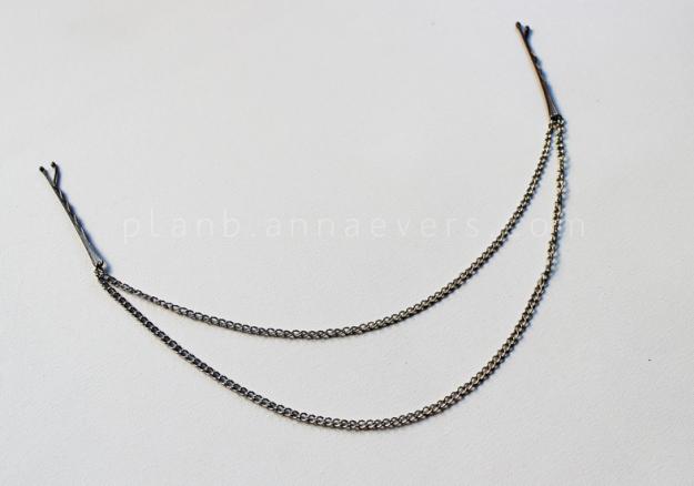 Plan B anna evers DIY Chain Hair pins step 5