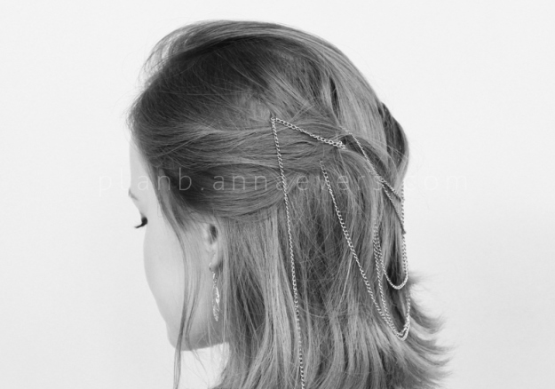 Plan B anna evers DIY Chain Hair pins DIY