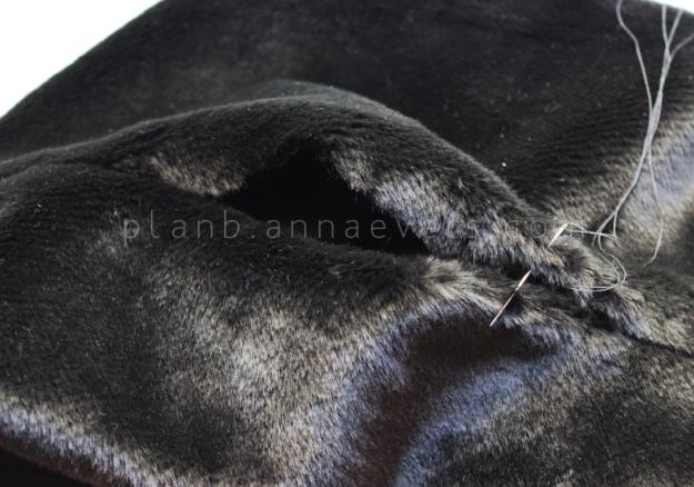 Plan B anna evers DIY Fur tube scarf step 6