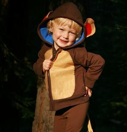 Disfraz de oso con sudadera