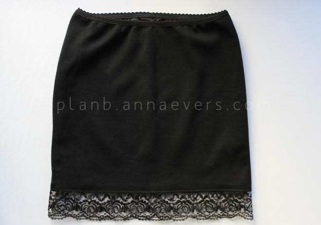 Plan B anna evers DIY Lingerie skirt step 7
