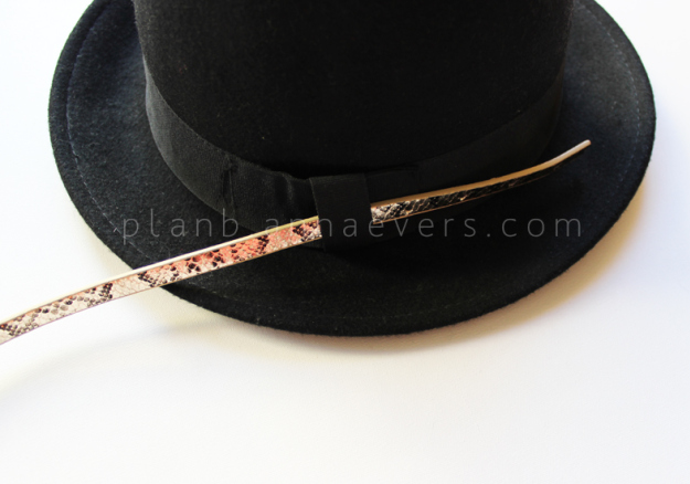 PlanB anna evers DIY Accessorize your hat step 1