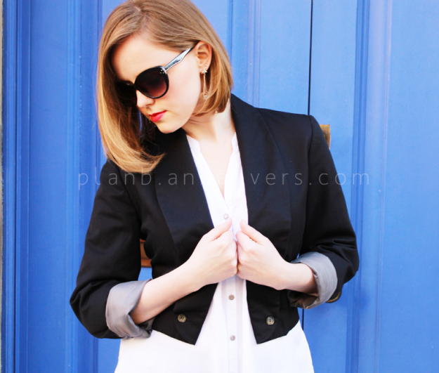 DIY lace up blazer from Plan B anna evers